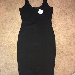 Women's black bodycon dress